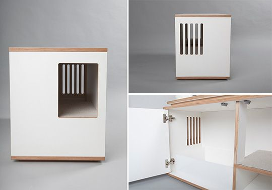 Stylish Modern Litterbox Cabinet From Julinka Cat Litter Box