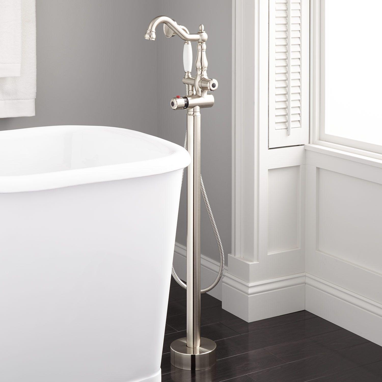 freestanding tub faucet black