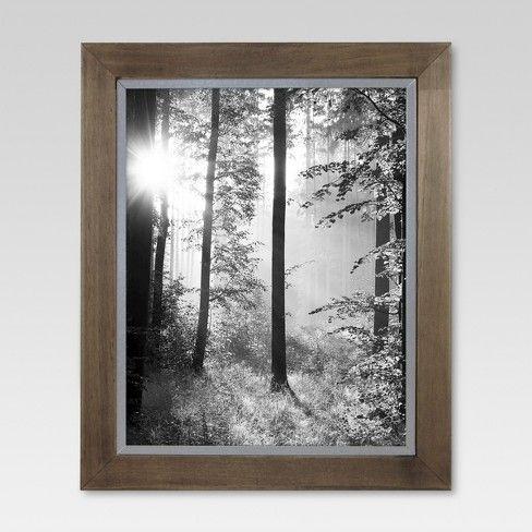 Raw Wood With Metal Edge Frame Threshold Laundrymud Room