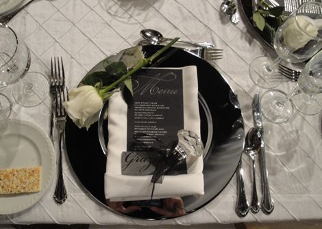 Black White Silver And Platinum Wedding Colors