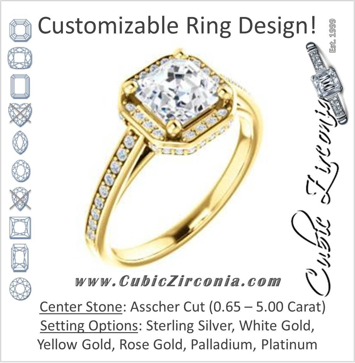 Cubic zirconia engagement ring the estelle customizable bezelset