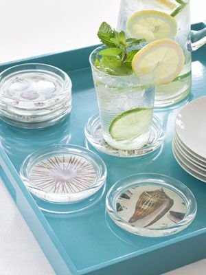 Make these pretty drink coasters before your first summer cookout.