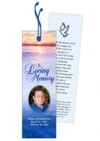 Memorial Bookmarks Funeral Obituary Bookmark Template