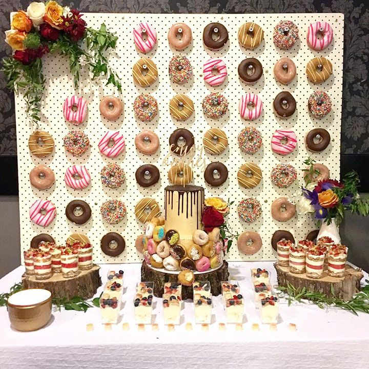 2X Wooden Donut Bagel Wall Wedding Treat Board Doughnut Wall Home Party Decor