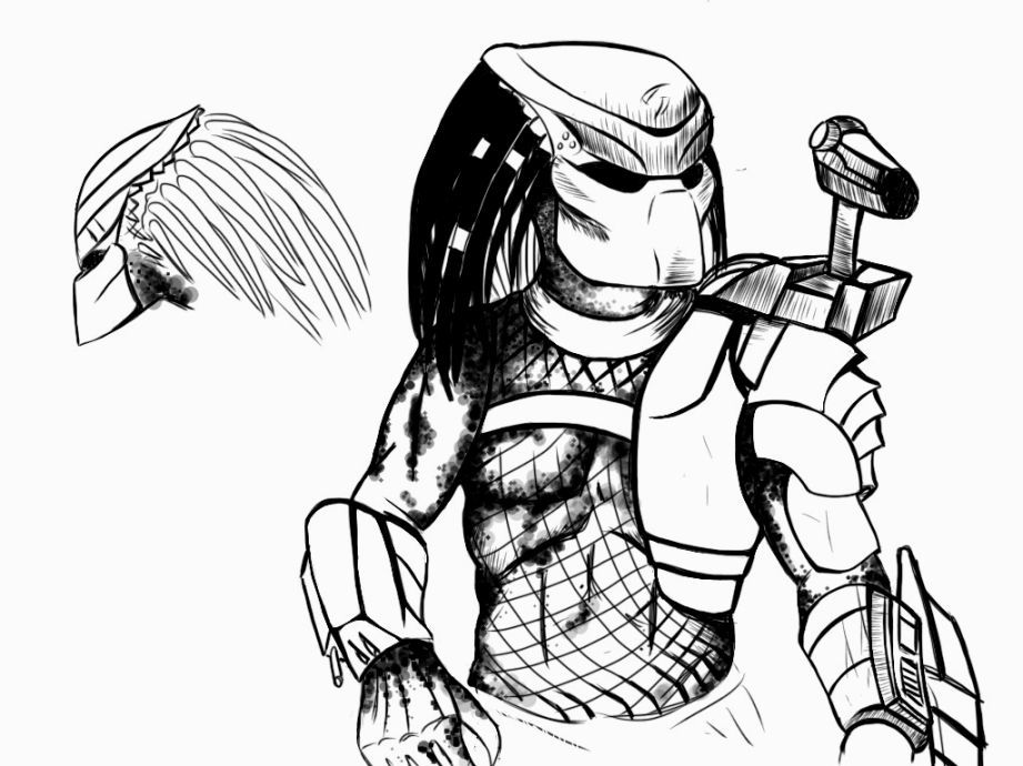 Predator Coloring Pages Coloring Pages Pinterest Predator