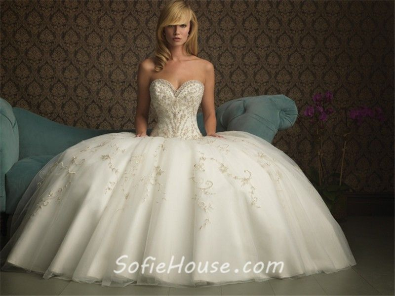 Biggest Ball Gown Wedding Dresses | Home » Ball Gown Sweetheart ...