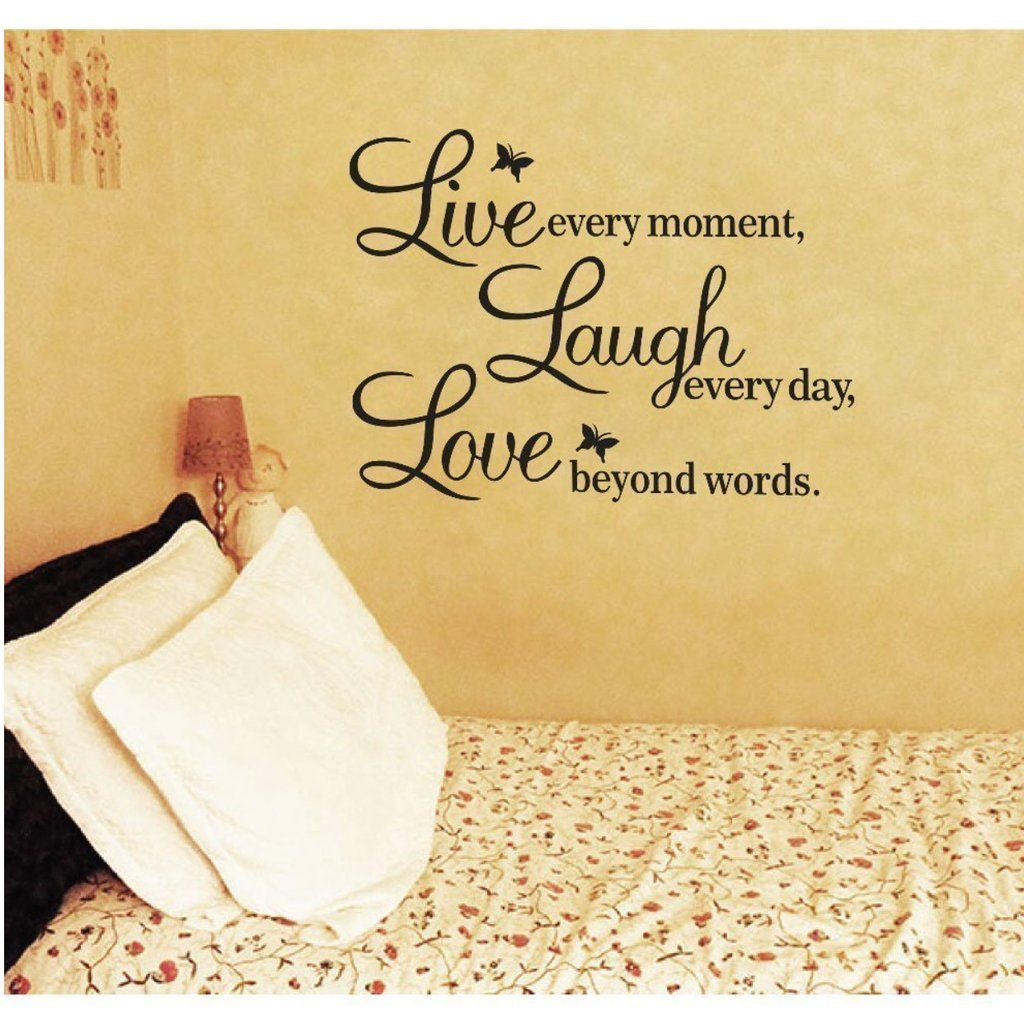Meco Vinyl Decal Live Every Moment, Laugh Every Day, Love Beyond ...