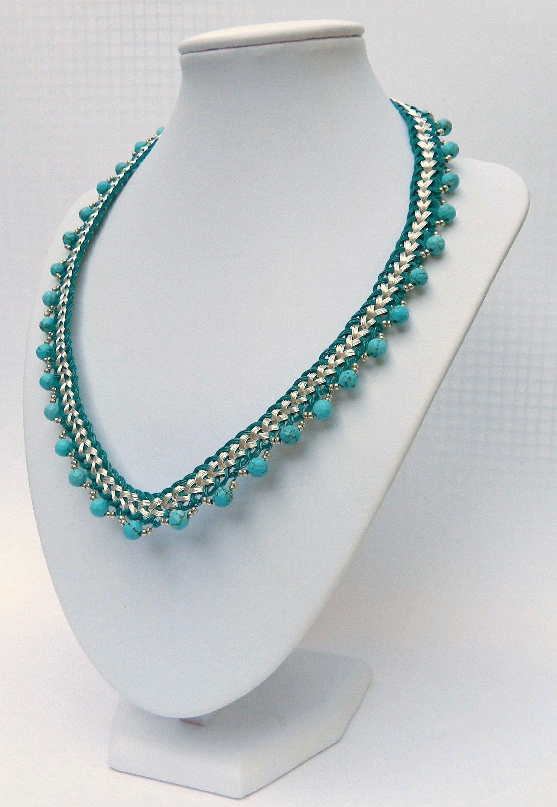 Wire Kumihimo Beaded Collar Tutorials Beads And Patterns