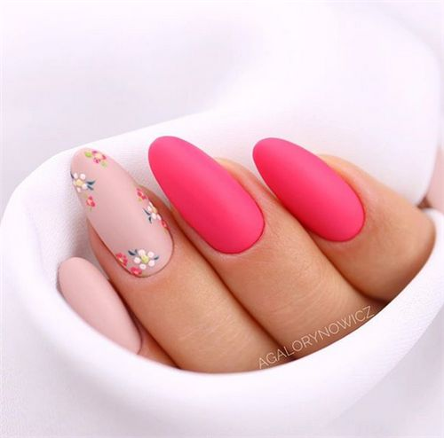Don T Know What Color To Paint Your Nails This Season I Already Made The Pick For You Spring Is A Season When All Fl Matte Nails Design Nail Designs My Nails