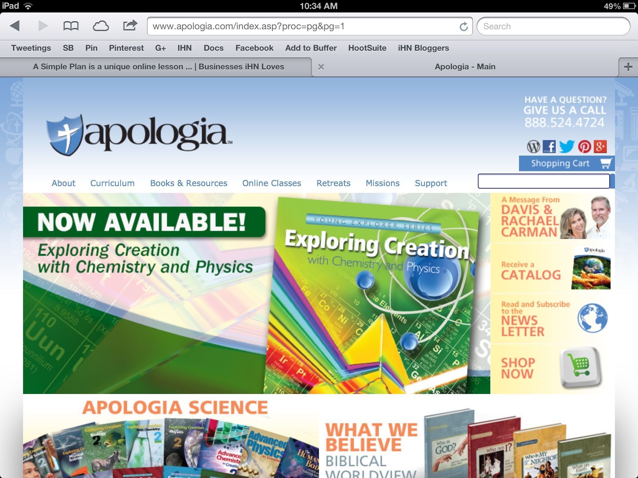 Apologia publishes homeschooling curriculum and resources