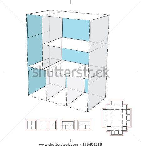 Cardboard shelf blueprint layout paper crafts and templates cardboard shelf blueprint layout malvernweather Images