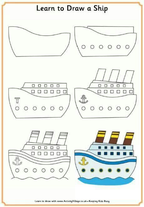 Vaixell Ship Drawing Drawing For Kids Learn To Draw