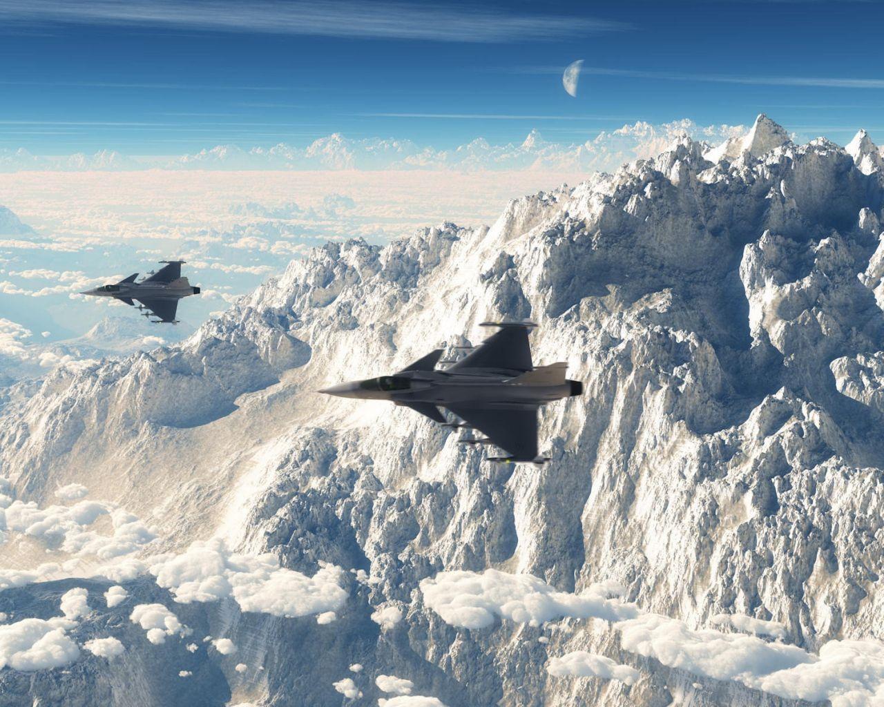 Обои истребители, Облака. Авиация foto 12