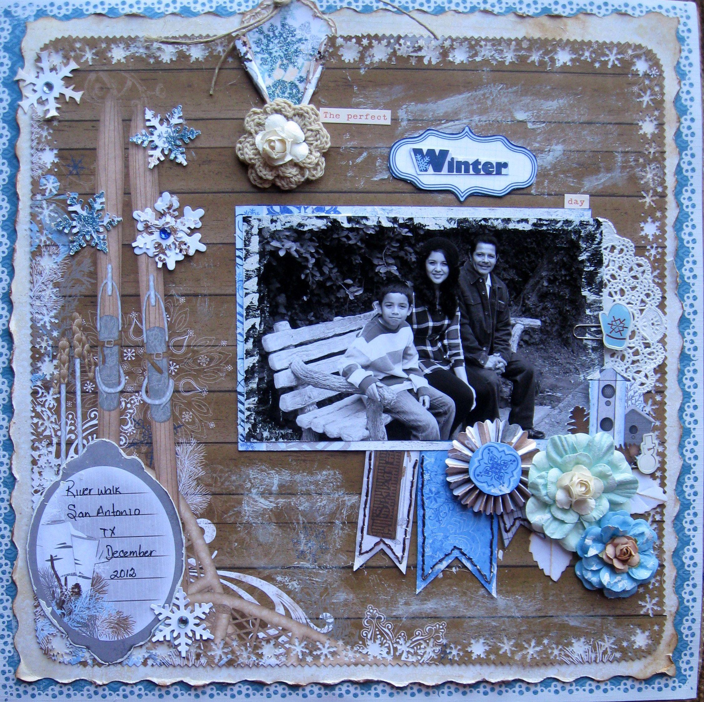 Bo Bunny - Powder Mountain - Rice8994: The perfect WINTER day..