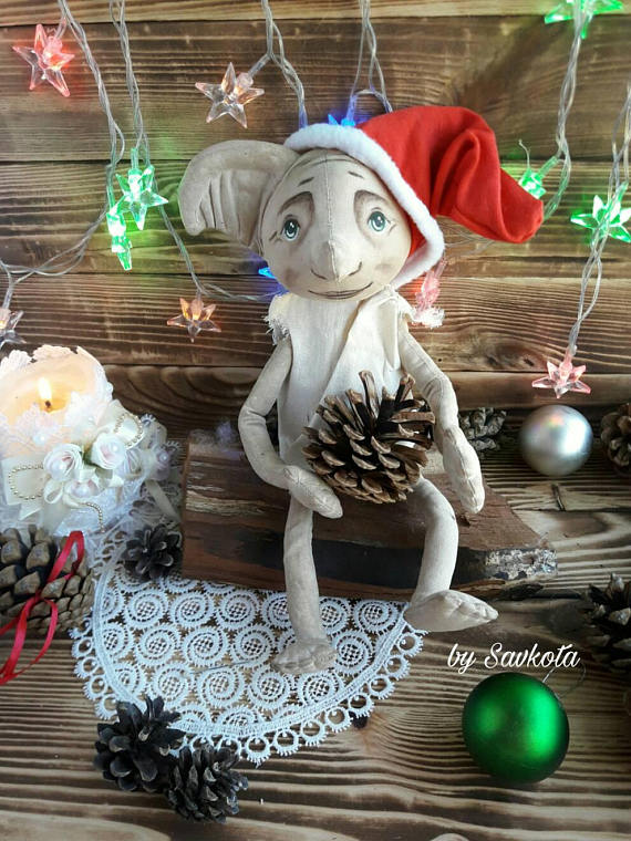 Christmas tree topper Dobby The House Elf (Harry Potter) 13 inches/ dobby  house-elf / Harry Potter g - Christmas Tree Topper Dobby The House Elf (Harry Potter) 13 Inches