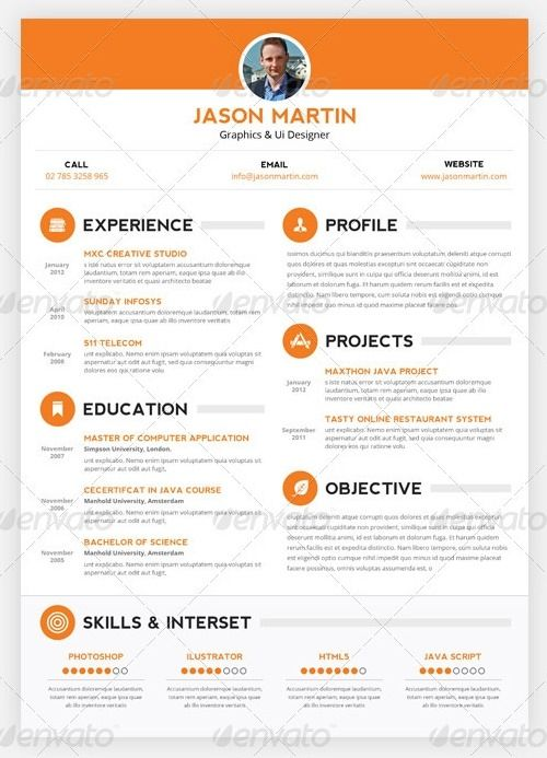 Add some flare on your job application by using any resume psd - resume application