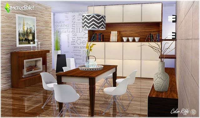 Sims 4 Cc S The Best Dining Room By Simcredible Designs Sims 4