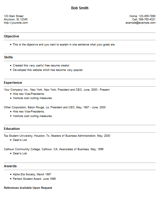 Online Free Resume Maker Writing Sample Download  Home Design