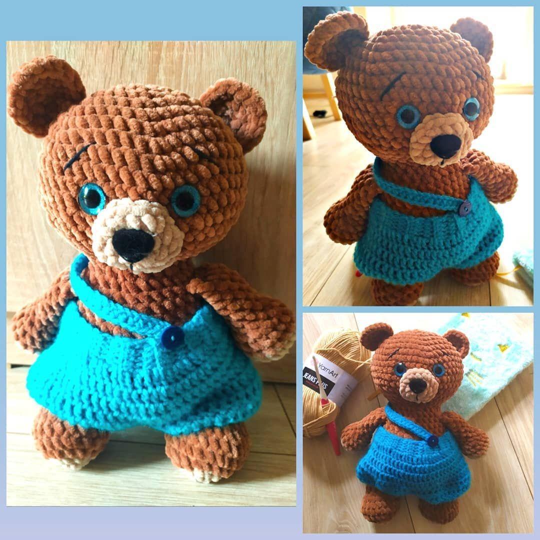 Polubienia 300 Komentarze 1 Anna Horoszkiewicz Hanndicraft Na Instagramie Chyba Najladniejszy Mis Jakiego Zrobilam Misi Teddy Teddy Bear Animals