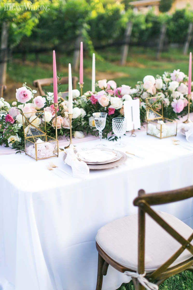 Vineyard Wedding Inspiration With Geometric Details Elegantwedding Ca Wedding Table Settings Outdoor Wedding Decorations Vintage Wedding Table Settings