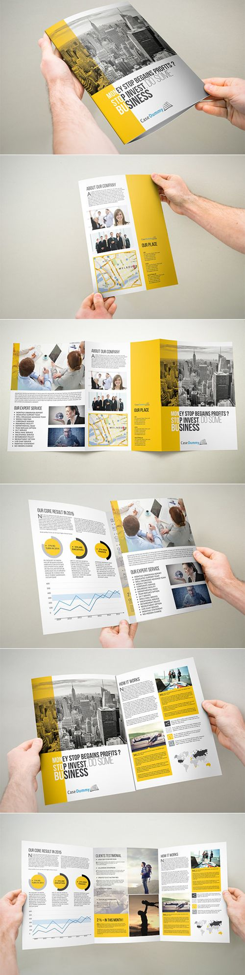 A TriFold Brochure Corporate Design  Brochure Design