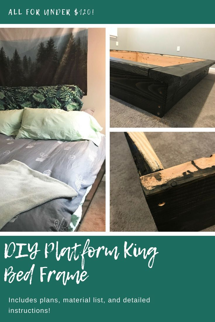 How To Build A Simple Platform King Bed Frame For Cheap