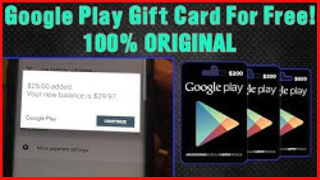 free google play gift card giveaway now - 100% working code