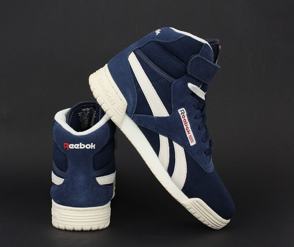 Herren Vintage Leder Reebok Schuhe Exofit Top Sneaker Hi nwOm8yNv0