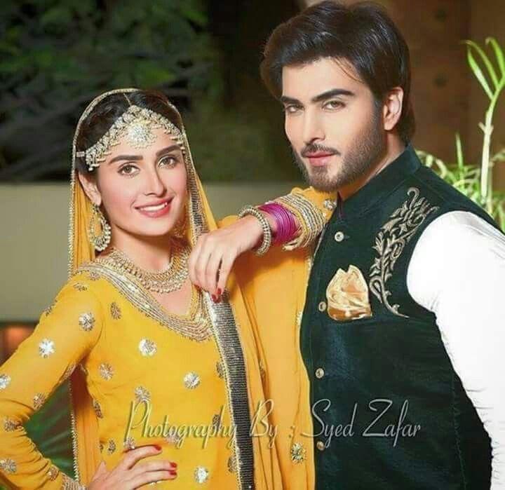 Imran Abbas And Ayeza Khan From The Shoot Of Upcoming Drama Serial