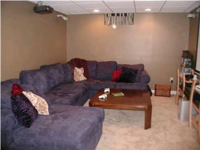 This is my blue microfiber sectional
