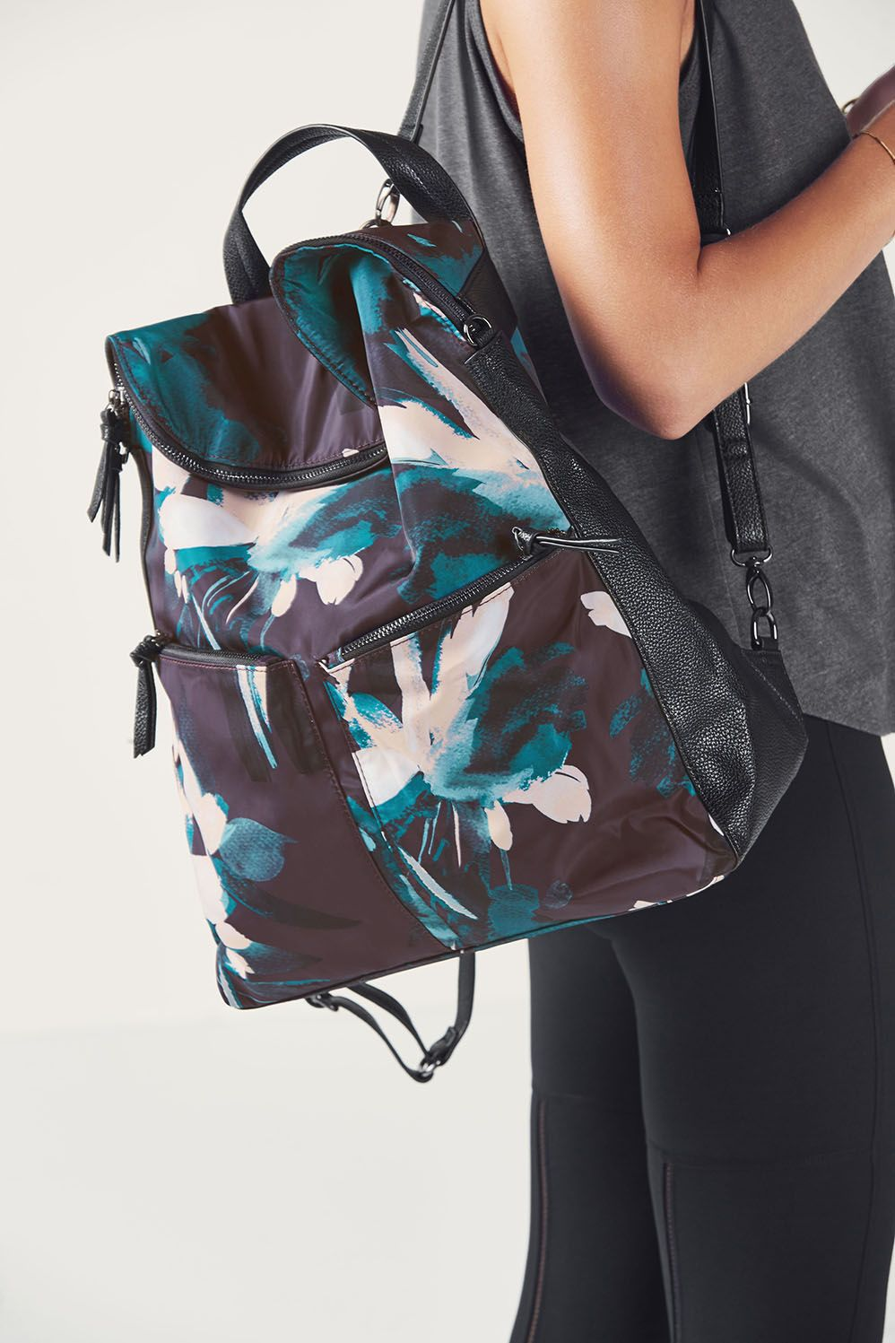 257931f040a1 Fabletics Bags The Everything Backpack Womens Floral Spark Print One Size  Fits Most