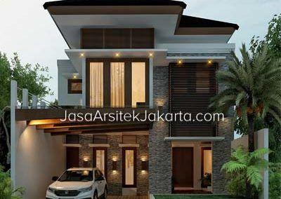 desain rumah 2 lantai luas bangunan 117 m2 bp emir lampung