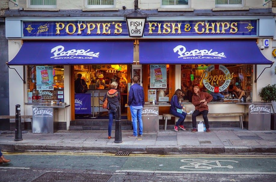 Poppies Fish Chips Spitalfields London Fish And Chips Fish