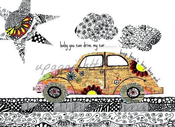 The Cars Drive Lyrics: Doodle Bug. Beatles Song. Baby You Can Drive My Car