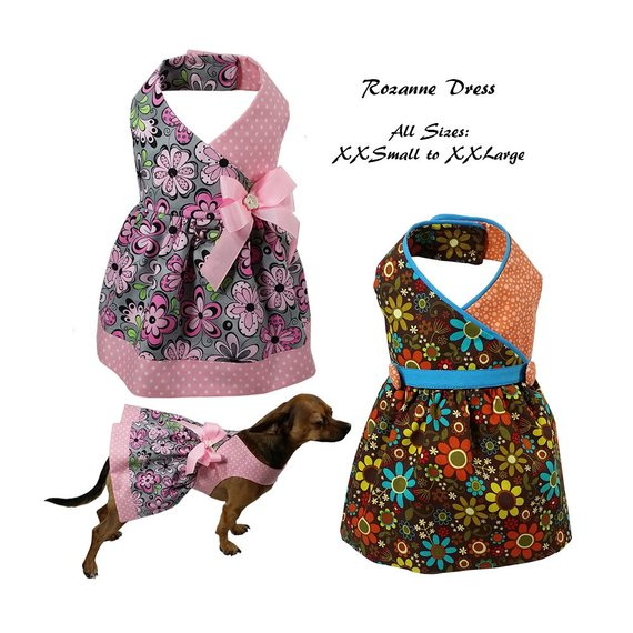 Roxanne Dog Dress Pattern All Sizes Dog Clothes Sewing Pattern