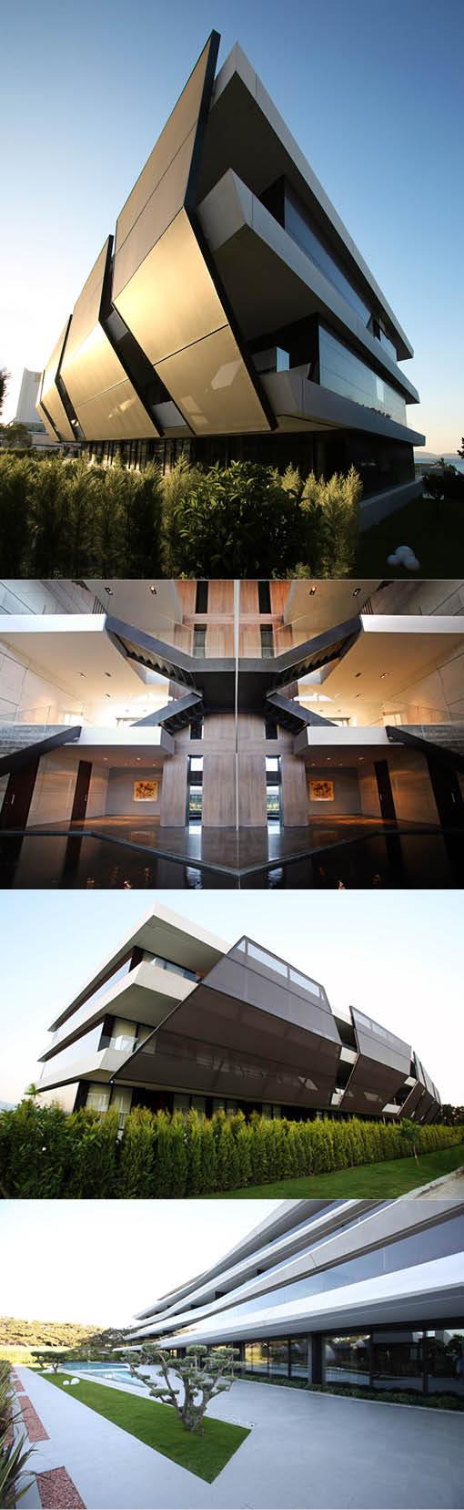 2013 Uras x Dilekci - Mi'Costa Hotel Residences / Boyalik Turkey / steel concrete / horeca / white black