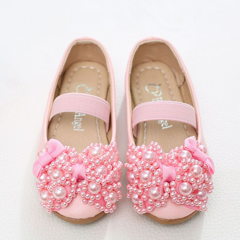 Click to buy kitiin beading flower girls shoes child pearls click to buy kitiin beading flower girls shoes child pearls ballet shoes izmirmasajfo Images