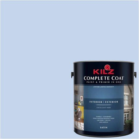 Kilz Complete Coat Interior/Exterior Paint & Primer in One, #RC200-01 Soothing Melody