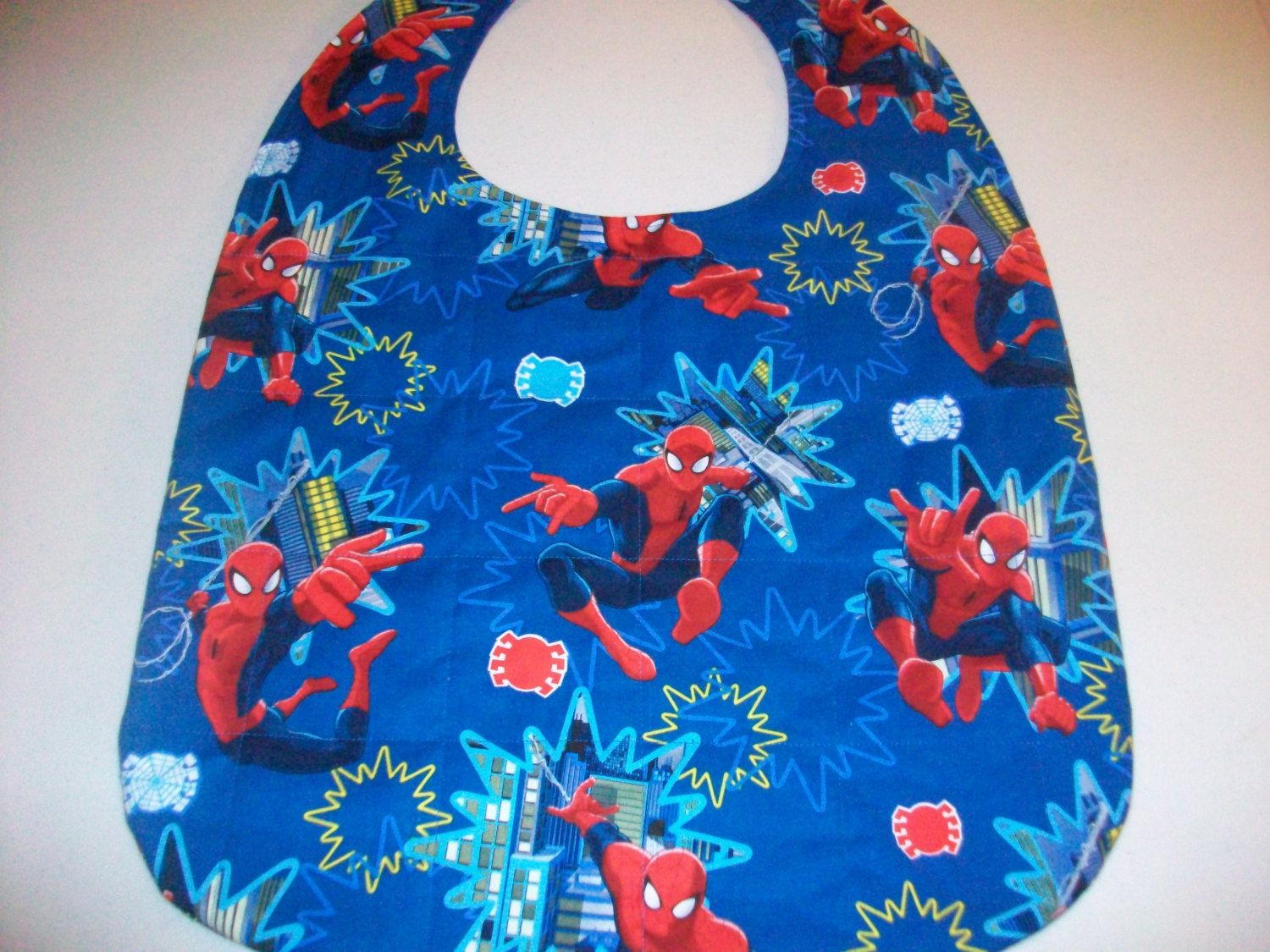Adult bib, special needs bib, teen bib, clothing protector,special need, care givers, quilted batting by NinsThisandThat on Etsy
