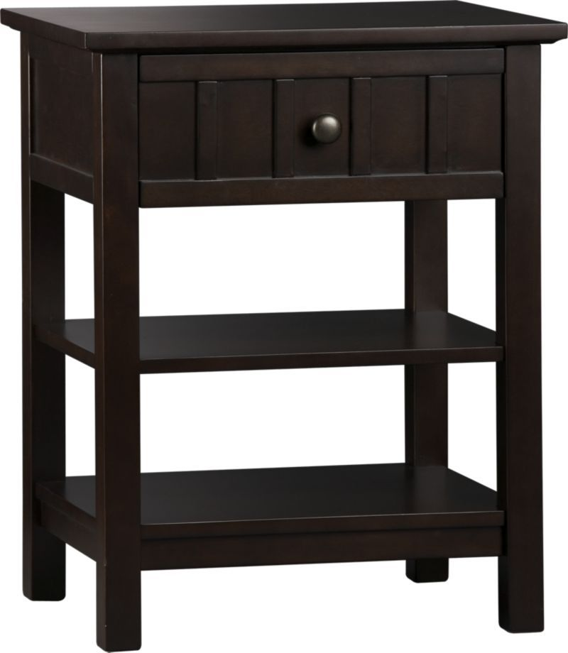 Brighton Coffee Nightstand Crate And Barrel Add A Sink
