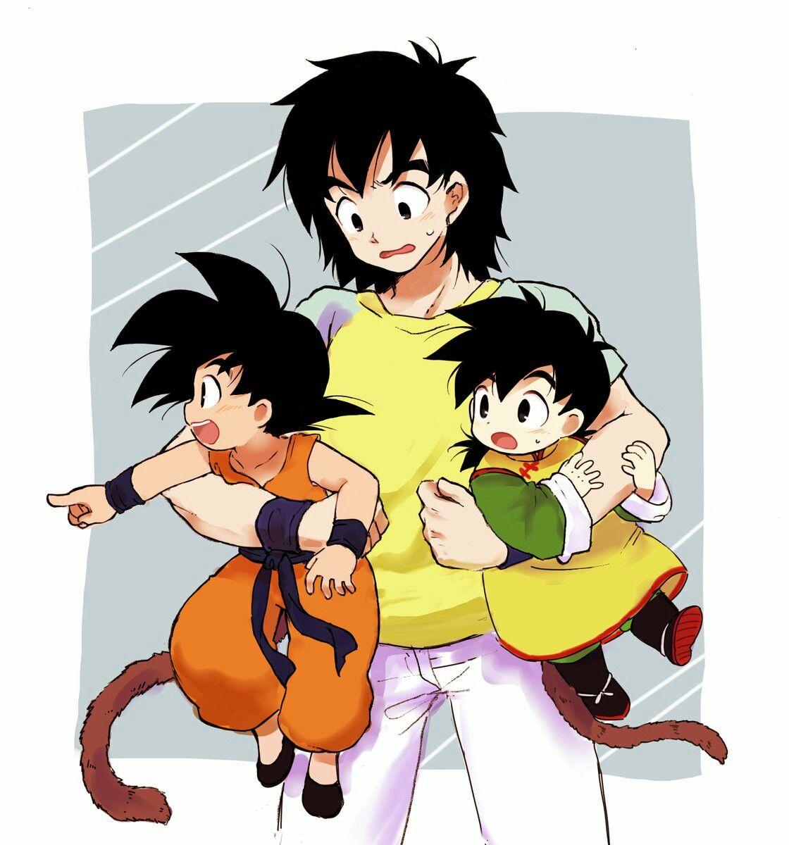 Goten With Kid Goku And Kid Gohan Xd Dragon Ball Super Goku Anime Dragon Ball Kid Goku