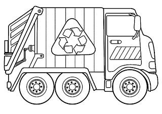 Que Puedo Hacer Hoy Camion De Basura Artesania De Camiones Monstruos Para Colorear