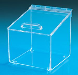 Angled Top Acrylic Box With Hinged Lid Acrylic Boxes With An Angled