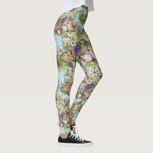 EASTER Leggings Bunny Egg Yoga Pants Women's Girls | Zazzle.com