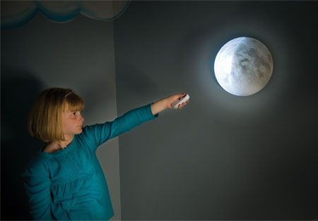 """Remote Controlled """"Moon in My Room."""" I want to be the girl with the moon in her apartment."""
