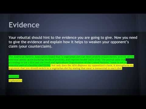 CounterclaimRebuttal Paragraph Example  Youtube  Th Grade Ela