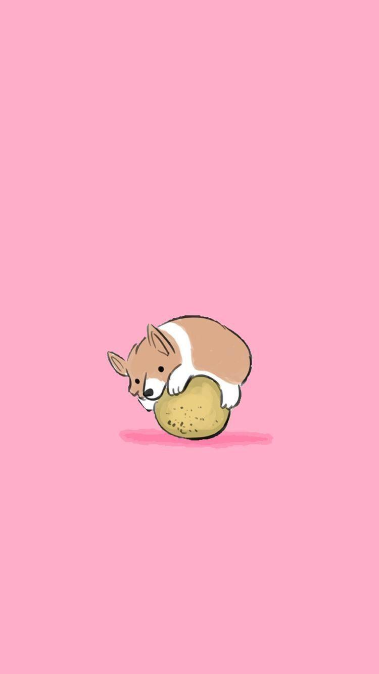 Cartoon Cute Animal Iphone Wallpaper Ipcwallpapers Dog Wallpaper Iphone Cute Cartoon Wallpapers Wallpaper Iphone Cute