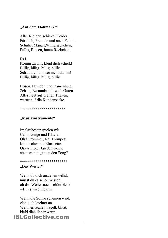 Didaktische Reime und kleine Gedichte | Kleine gedichte, Reime und ...