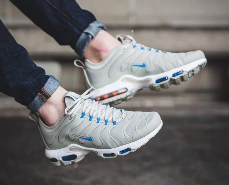 info for 52143 8e7ee The Nike Air Max Plus TN Ultra is rendered in pale grey photo blue for its  latest colorway this season.