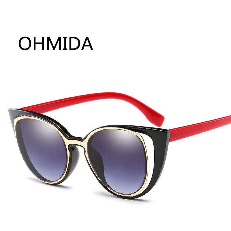 da37204d31c3 OMIDA New Fashion Cat Eye Sunglasses Women Brand Designer Retro Pierced Vintage  Female Sun Glasses oculos